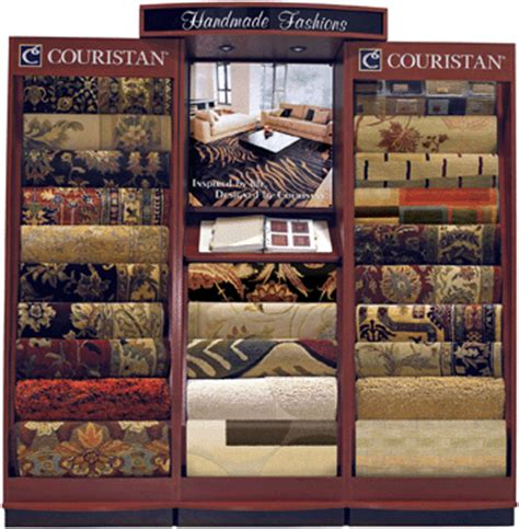 area rug display flooring news two new display units showcase couristan s finest new fixtures reflect