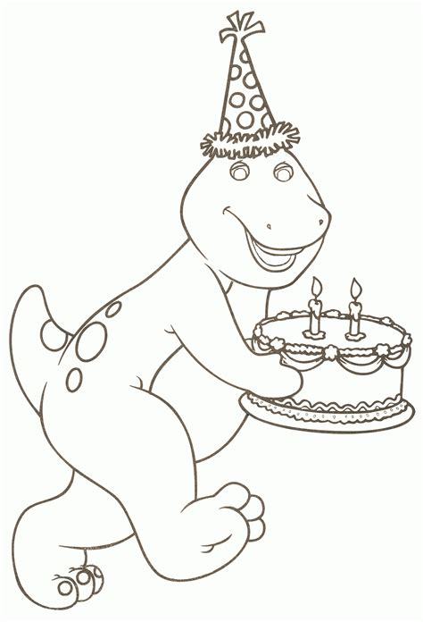 barney birthday coloring page barney color picture barney color wallpaper