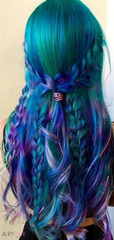mermaid colored hair 37 breathtaking mermaid inspired hairstyles with hair