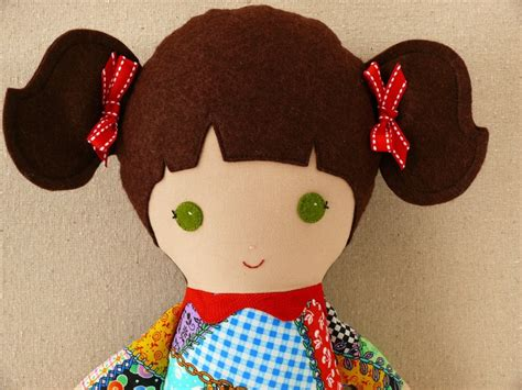 Patchwork Doll Costume - fabric doll rag doll in patchwork dress patchwork