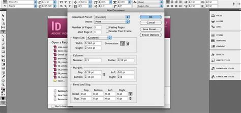 tutorial indesign book setup how to set up a document for book cover design in adobe