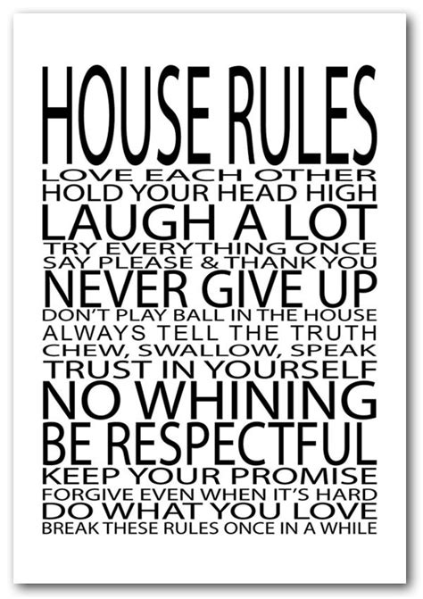 family house rules framed print house rules love each other text quotes framed art giclee