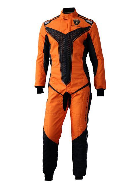 lamborghini suit orange black one record omp professional racing suit