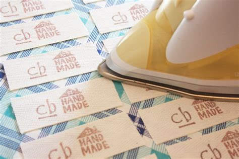 Labels For Handmade Items - craftyblossom fabric labels a tutorial