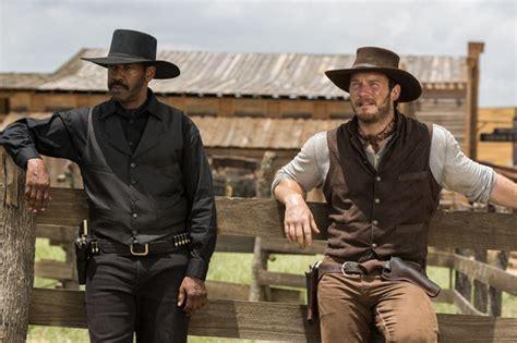 cowboy film remake the magnificent seven remake images reveal chris pratt