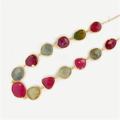 Fancy Sapphire fancy sapphire slice necklace