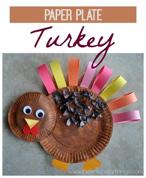 Thanksgiving Paper Plate Turkey Craft - turkey crafts for the kiddos