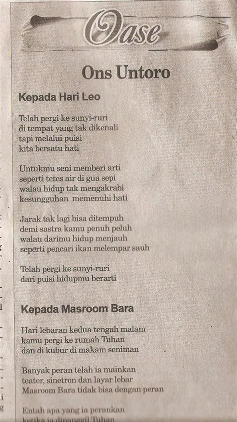 menulis puisi untuk koran melukis gerimis puisi puisi koran kedaulatan rakyat 3