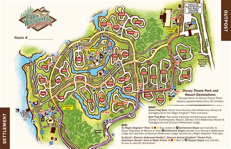 fort wilderness map disney s fort wilderness resort and cground