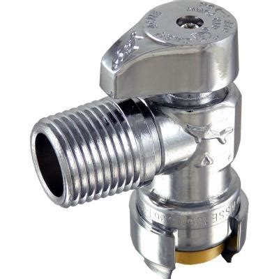 Angle Stop Plumbing by Sharkbite 1 2 In Push To Connect X 1 2 In Mip Brass
