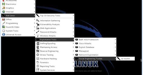 kali linux set toolkit tutorial kali linux tutorial social engineering tool explained