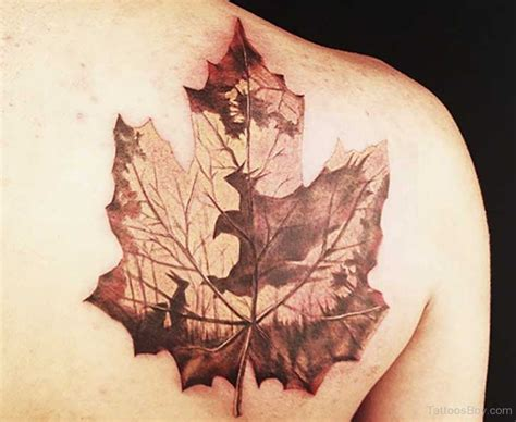 maple leaf tattoo designs leaf tattoos designs pictures