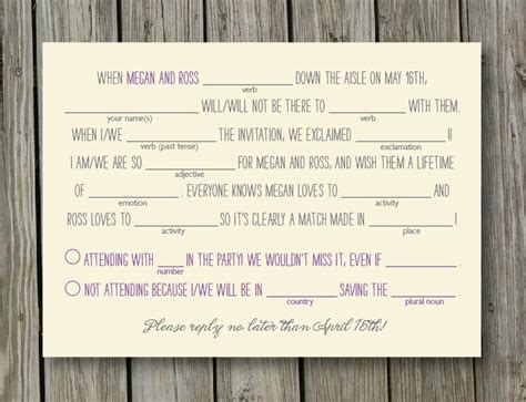 humorous wedding response cards wedding rsvps three ways to get a response from guests