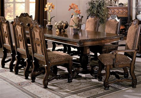 Oak Dining Room Table Chairs neo renaissance dining table 2 arm and 4 side chairs