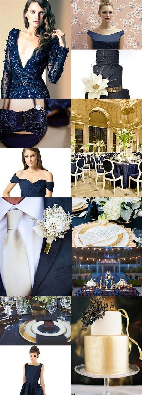 color inspiration midnight blue  navy wedding ideas