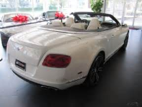 White Bentley Continental Gt For Sale 2013 Bentley Continental Gt V8 Convertible White For Sale