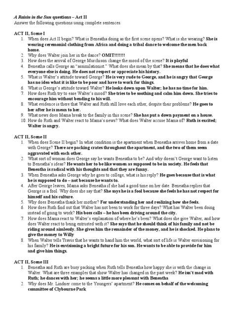 a raisin in the sun act 3 theme worksheet sun worksheets grass fedjp worksheet study site