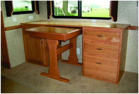 Rv Computer Desk Custom Built Rv Desks Country Craftsman Woodworking