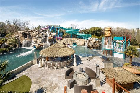Backyard Pool With Lazy River Incredible 32million Dallas Mansion Hits The Market