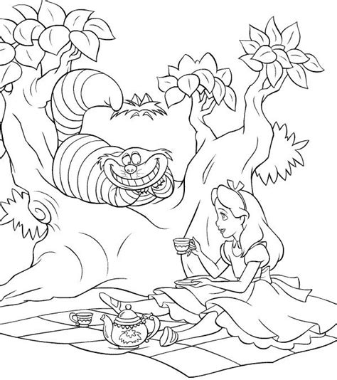 alice in wonderland adult coloring coloring pages