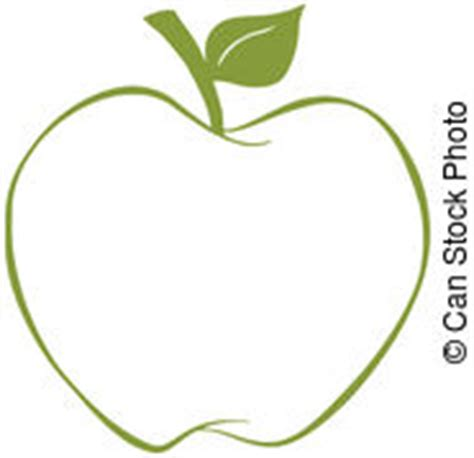 Green Apple Outline by Clip Vector Of Apple With Outline Illustration Of Apple With Csp10310462