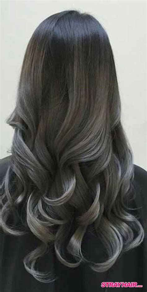 gorgeous gunmetal gray hair frisuren balayage haarfarben