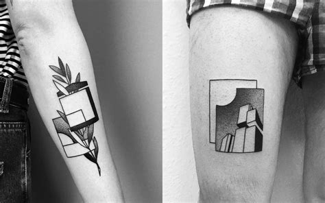architecture tattoo minimalist tattoos that say a lot with just a few lines