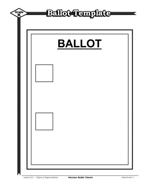 voting ballot template notice of general election and