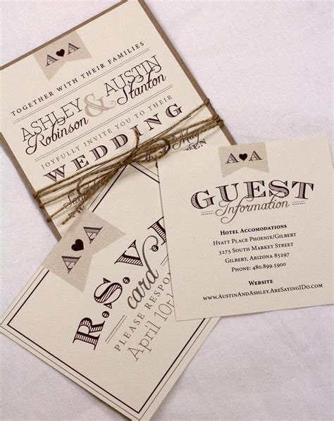 rustic twine wedding invitations vintage wedding invitation suite sle rustic and vintage twine and burlap purchase