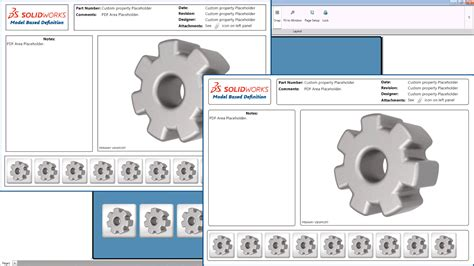 How To Customize 3d Pdf Templates Using Solidworks Mbd Cadalyst Solidworks 3d Pdf Template