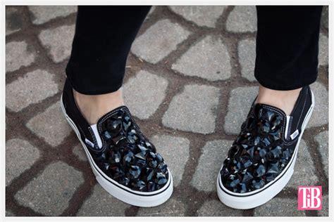 diy vans shoes jeweled slip ons diy tutorial