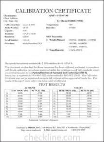 calibration certificate template sle nist traceable calibration certificates nist cal
