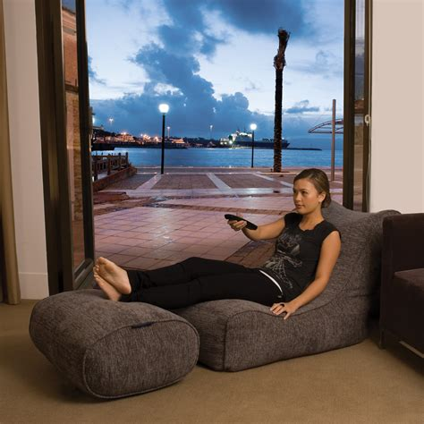 Ambiente Lounge by Indoor Bean Bags Evolution Sofa Grey Bean