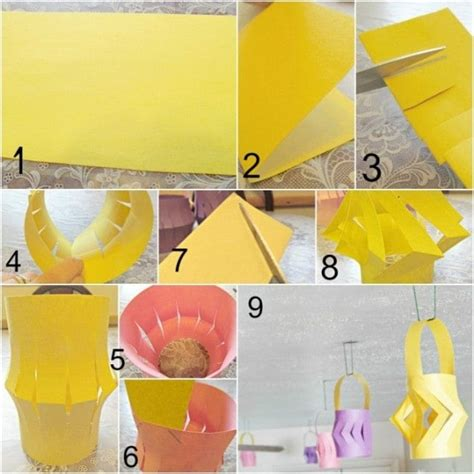 How To Make Easy Paper Lanterns - in lean cuisine asian dinner diy paper lanterns