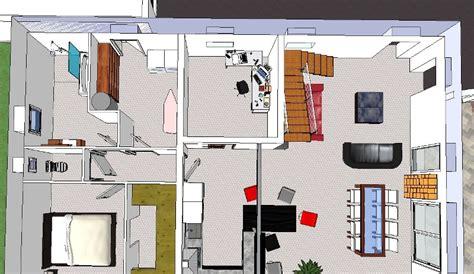 Cuisine Ouverte Sur Salon 30m2 3000 by Maison Etage 160m 178 Plafond Cathedrale Sur Terrain