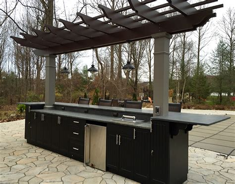 poolside outdoor kitchen fiberglass pergola structureworks