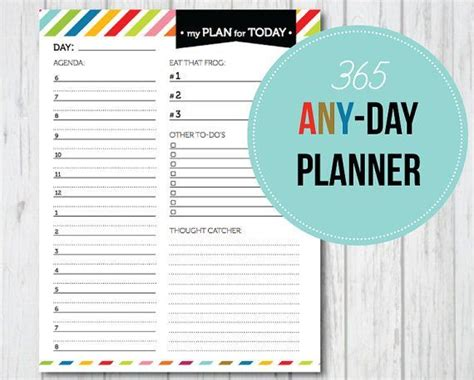 printable day planner pdf day planners printable cute cute cute 365 any day