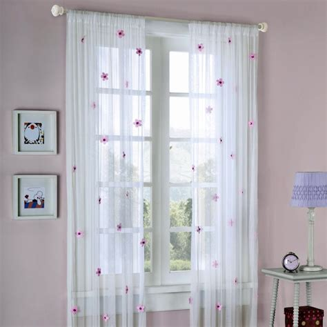 Privacy Sheer Curtains Sheer Curtains Privacy With Flowers