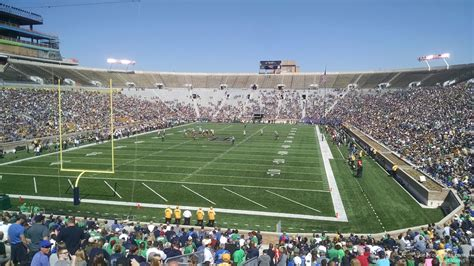Notre Dame Stadium Sections by Notre Dame Stadium Section 17 Rateyourseats
