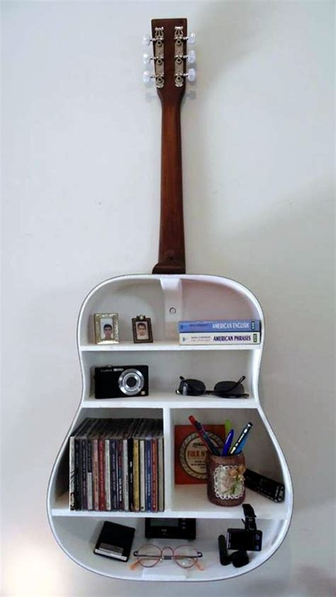 Tempat Taruh Bumbu Dapur 8 inspirasi rak kece dari gitar bekas artistik dan unik