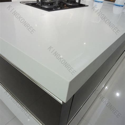 Solid Acrylic Countertop China Oem Snow White Composite Quartz Countertop Wholesale