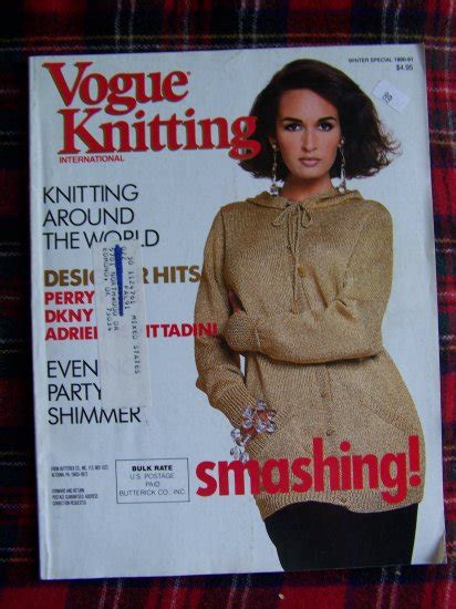 vogue knitting uk vogue knitting patterns magazine winter special 1990 1991