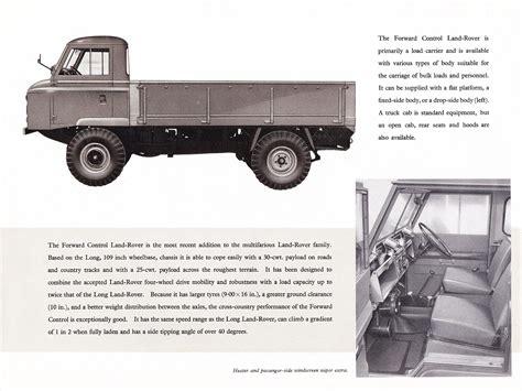 land rover forward 1963 land rover forward control brochure