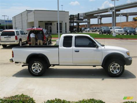 1999 Toyota Tacoma 4x4 1999 Toyota Tacoma Sr5 Extended Cab 4x4 In White