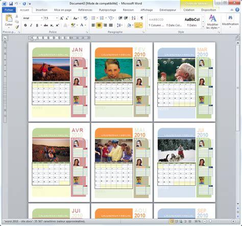 Creation Calendrier Photo Cr 233 Er Un Nouveau Document R 233 Digez Facilement Des