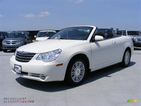 chrysler car white 2009 chrysler sebring touring convertible in stone white