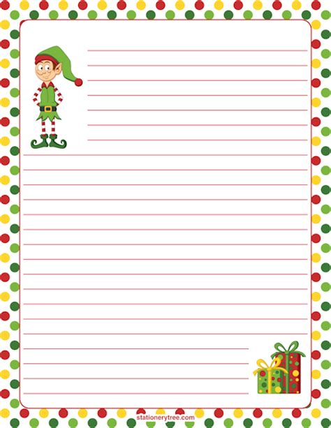 printable elf paper printable elf stationery
