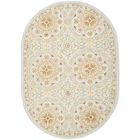 Safavieh Oval Rugs Safavieh Chelsea Teal Green 4 Ft 6 In X 6 Ft 6 In Oval