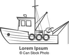 simple boat clipart traditional fishing boat clipart vector and illustration