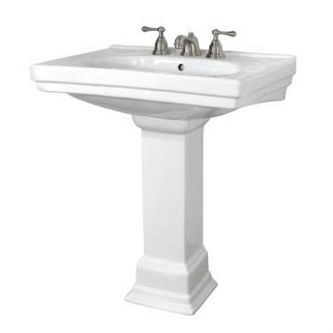 Home Depot Pedestal foremost structure lavatory and pedestal combo in white fl